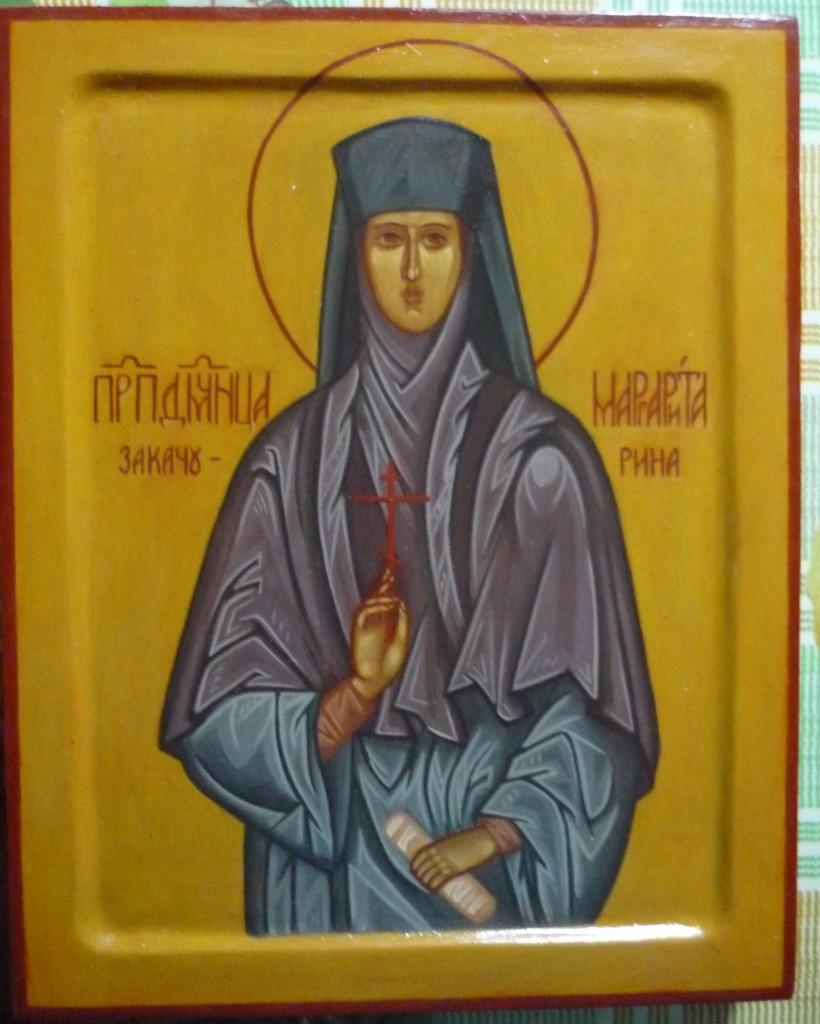 икона Св. Преподобномученицы Маргариты Закачуриной
